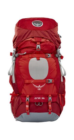 Osprey Ariel 55 - Sac à dos randonnée femme - rouge